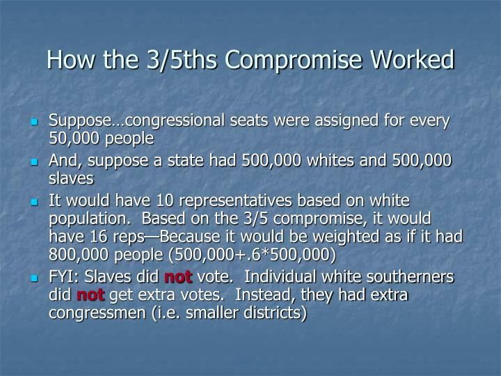 How the 3/5ths Compromise Worked