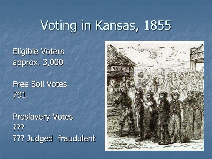 Voting in Kansas, 1855