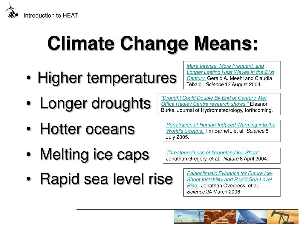 Climate Change Means: