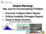 global warming not just an environmental problem