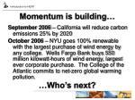 momentum is building