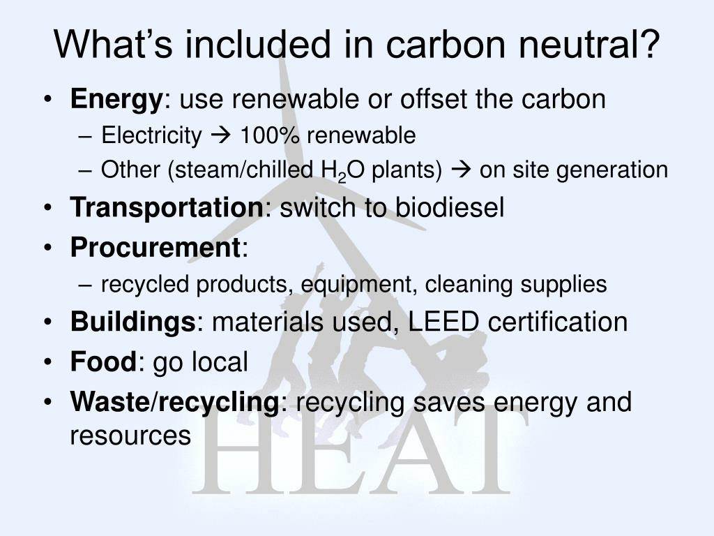 What's included in carbon neutral?