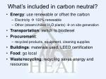 what s included in carbon neutral