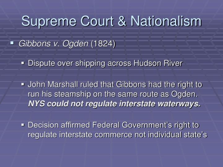 Supreme Court & Nationalism