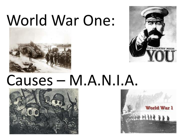 an essay on the causes of world war 1 The causes of world war i world war i is essentially much more complicated and complex than a simple list of causes while there was a series of events that directly.