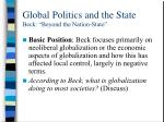 global politics and the state beck beyond the nation state