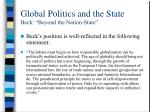 global politics and the state beck beyond the nation state2