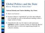 global politics and the state biswas w h ither the nation state10