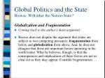 global politics and the state biswas w h ither the nation state11