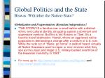 global politics and the state biswas w h ither the nation state13