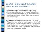 global politics and the state biswas w h ither the nation state7