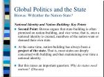 global politics and the state biswas w h ither the nation state9