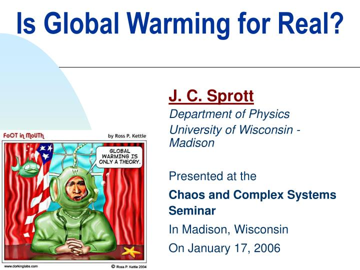 is global warming for real n.
