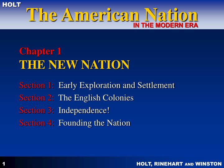 chapter 1 the new nation n.