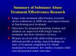 summary of substance abuse treatment effectiveness research