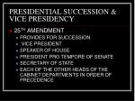 presidential succession vice presidency