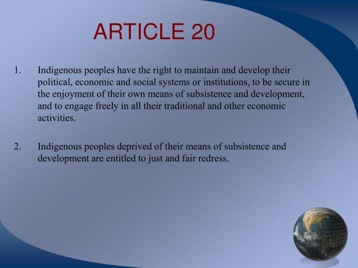 ARTICLE 20