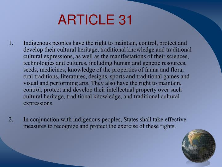 ARTICLE 31