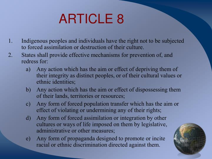 ARTICLE 8