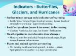 indicators butterflies glaciers and hurricanes
