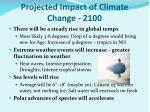 projected impact of climate change 2100