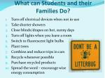 what can students and their families do