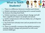 what to teach students
