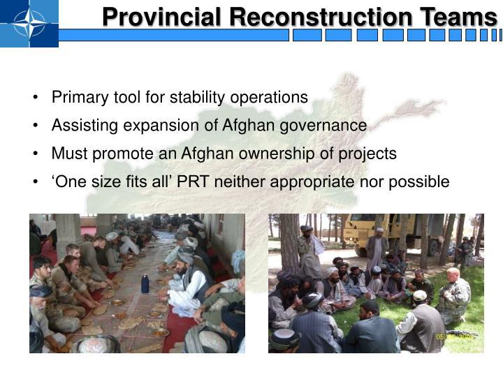 Provincial Reconstruction Teams