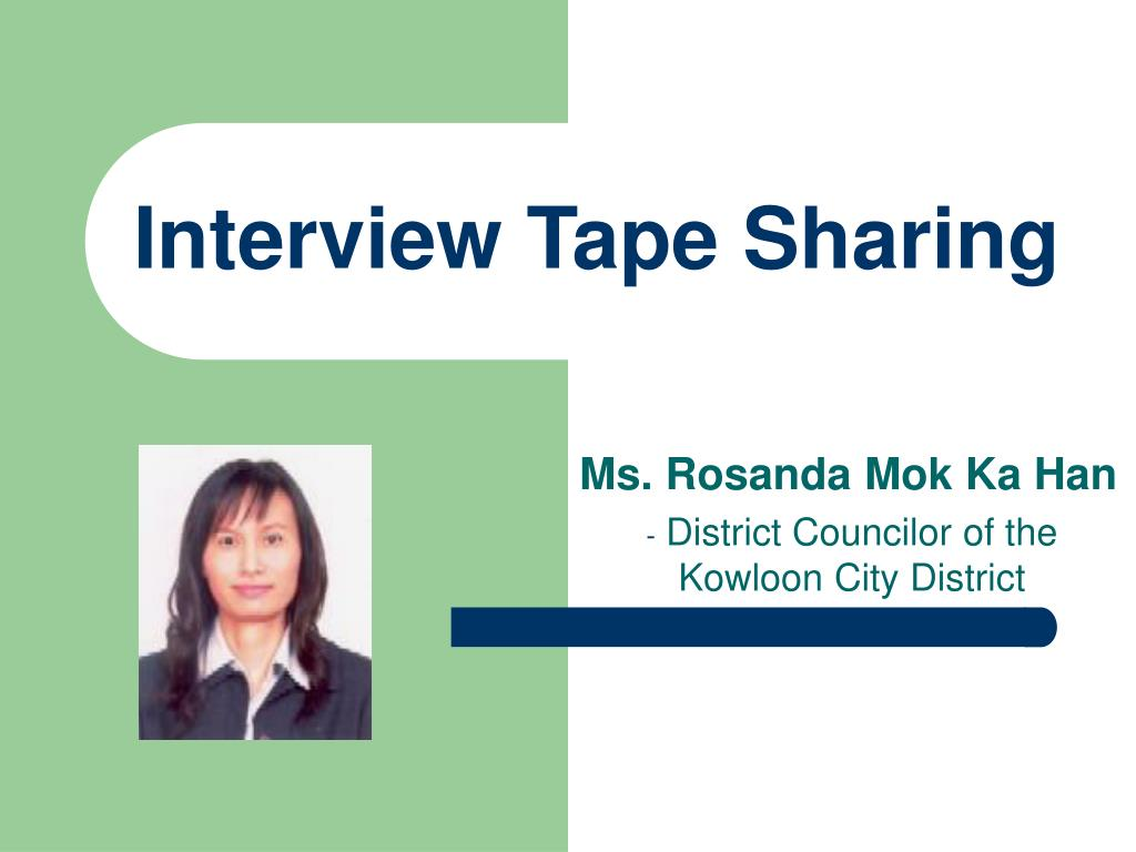 Interview Tape Sharing