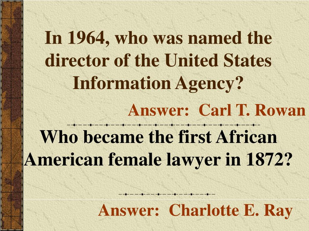 In 1964, who was named the director of the United States Information Agency?