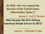 in 1964 who was named the director of the united states information agency