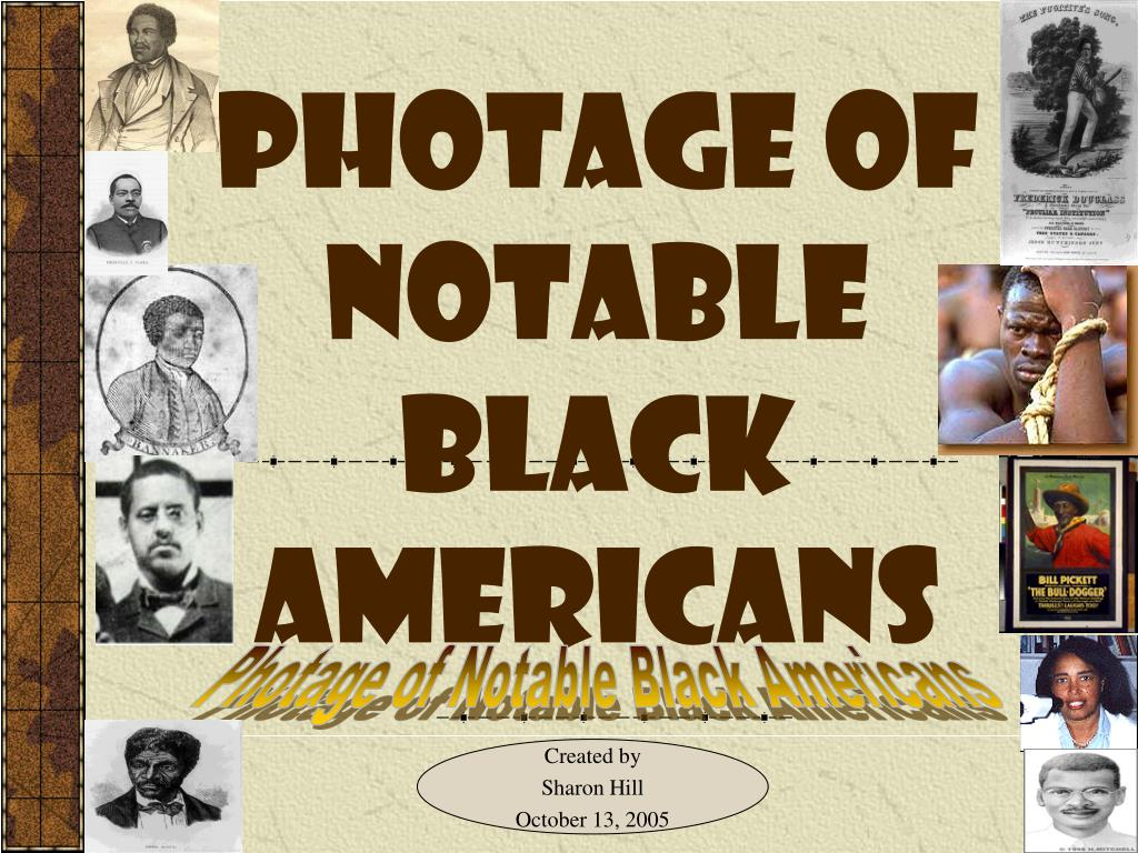 photage of notable black americans l.