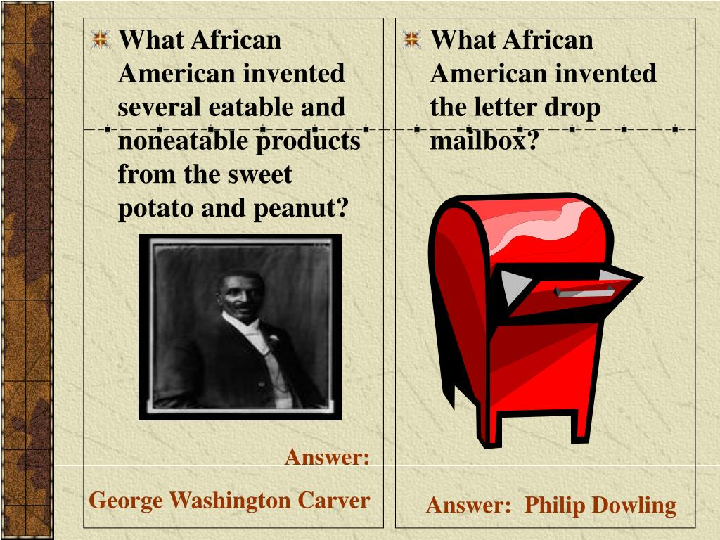 What African American invented several eatable and noneatable products from the sweet potato and peanut?