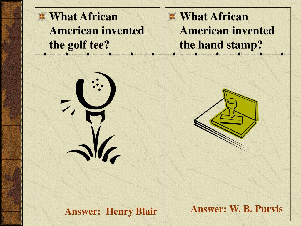 What African American invented the golf tee?
