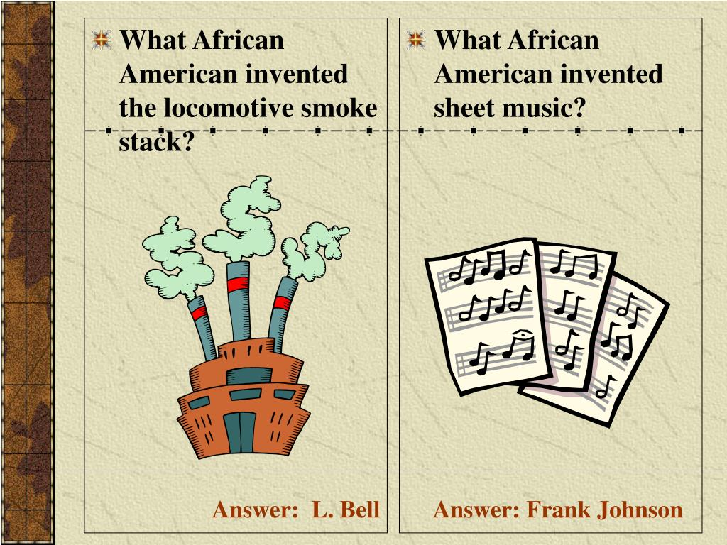 What African American invented the locomotive smoke stack?