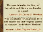 the association for the study of negro life and history was founded by whom