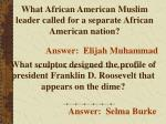 what african american muslim leader called for a separate african american nation