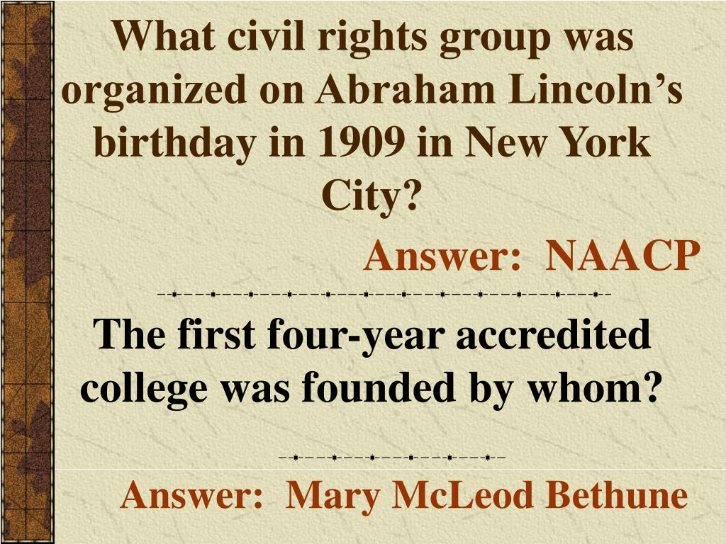 What civil rights group was organized on Abraham Lincoln's birthday in 1909 in New York City?