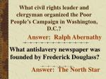 what civil rights leader and clergyman organized the poor people s campaign in washington d c