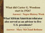 what did carter g woodson start in 1926