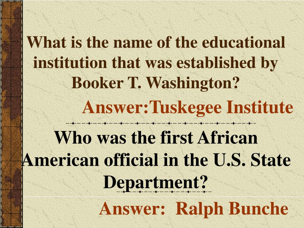 What is the name of the educational institution that was established by Booker T. Washington?