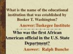what is the name of the educational institution that was established by booker t washington