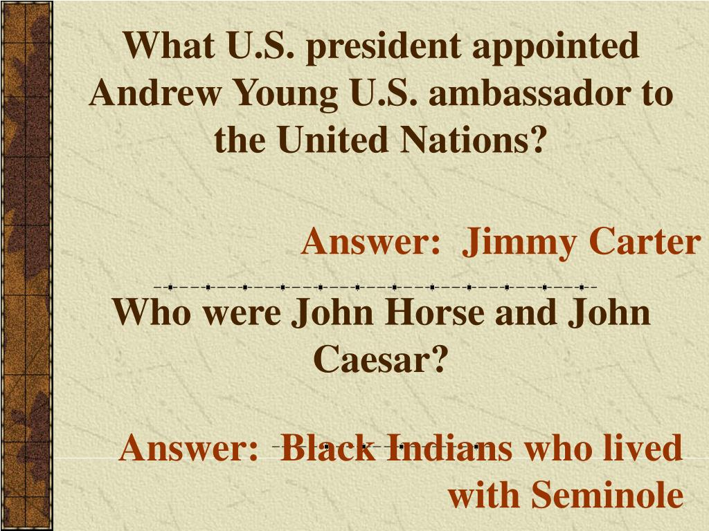 What U.S. president appointed Andrew Young U.S. ambassador to the United Nations?