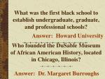 what was the first black school to establish undergraduate graduate and professional schools