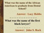 what was the name of the african american to graduate from dental school
