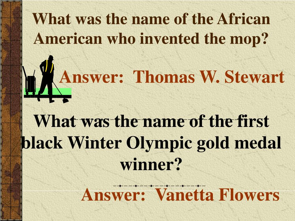 What was the name of the African American who invented the mop?