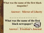 what was the name of the first black magazine