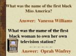 what was the name of the first black miss america