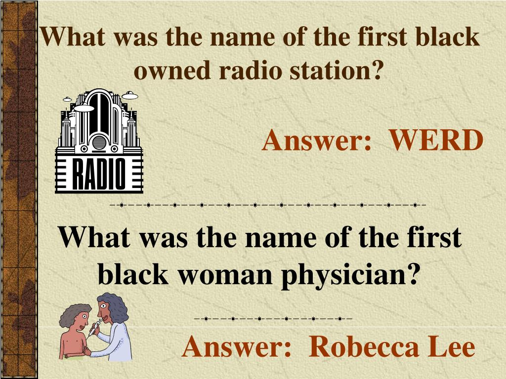 What was the name of the first black owned radio station?