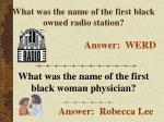 what was the name of the first black owned radio station